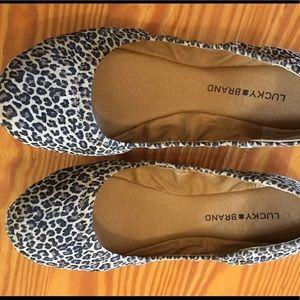 Lucky brand leopard print ballet flats